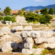Archaeological Dig Site at  Apollo Temple, Corinth, Greece. - Stock Photo