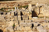 Archaeological Dig Site at Apollo Temple, Corinth, Greece. — Stock Photo