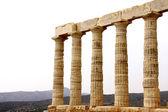 Templo de poseidón en el cabo sounion cerca de atenas, grecia — Foto de Stock
