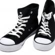 Stock Photo: black and white sneakers