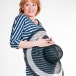 Funny pregnant woman — Stock Photo #3425718