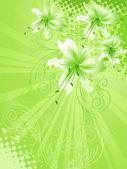 Tło kwiat lilia — Wektor stockowy