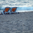 Stock Photo: Chair on beach