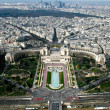 Stock Photo: Aerial view of Paris. Trocadero