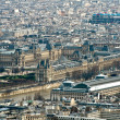 View from the Eiffel tower: Louvre — Foto de Stock