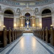 Inside in church — Stock fotografie