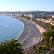 Beach and town, Nice, France - Stock Photo