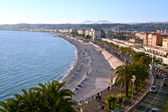 Beach and town, Nice, France — Stock Photo