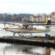Seaplane.Air harbor in Victoria,Canada - Stock Photo