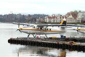 Seaplane.Air harbor in Victoria,Canada — Stock Photo