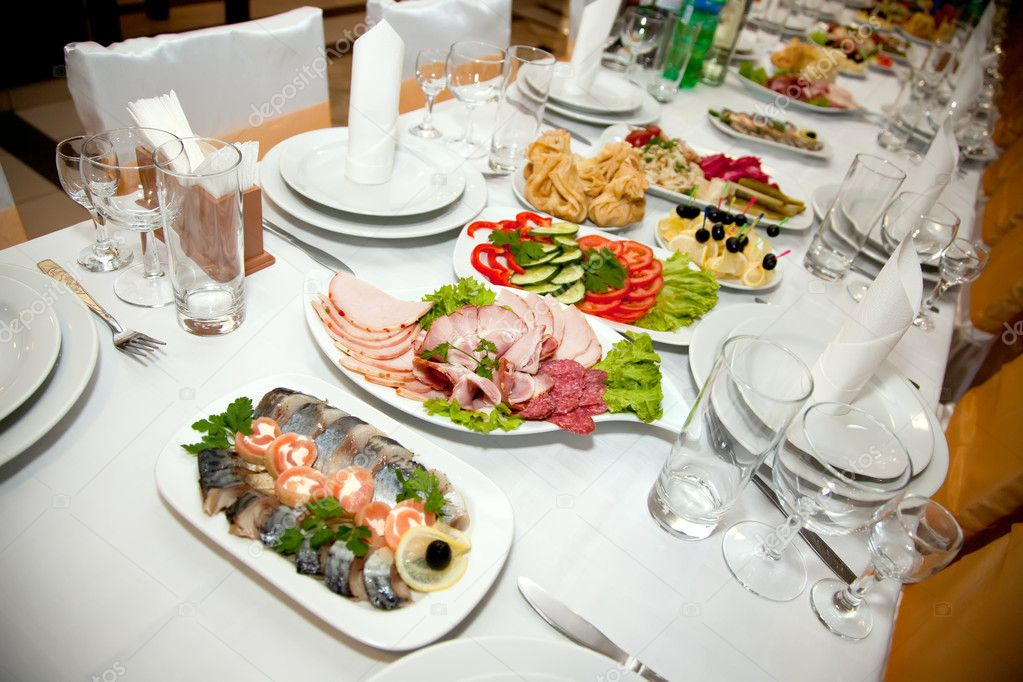 Food at banquet table  Stock Photo #2841001