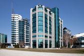 The modern building.Belgrade Serbia — Stock Photo