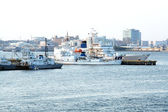 Military ships.Coast Guard.Yokohama — Stock Photo