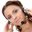 Beautiful  customer service woman — Stock Photo