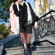 Стоковое фото: Young beautiful woman outdoor