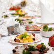Food at banquet table — Stock Photo #3593590