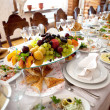 Banquet table - Stock Photo