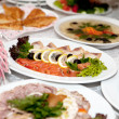 Food at banquet table — Stock Photo #3593694