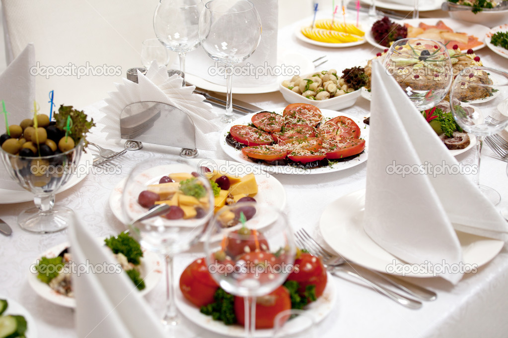 Food at banquet table     — Stock Photo #3593595