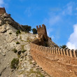 Wall of an ancient Byzantian fortress — Stock Photo