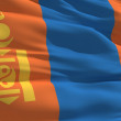 Waving flag of Mongolia — Stock Photo
