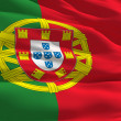 Waving flag of Portugal — Stock Photo