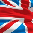 Waving flag of United Kingdom — Stock Photo