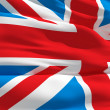 Waving flag of United Kingdom — Foto de Stock
