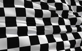 Waving checkered flag — Foto Stock