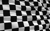 Waving checkered flag — Stock Photo