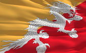 Waving flag of Bhutan — Stock Photo