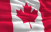 Waving flag of Canada — Stock Photo