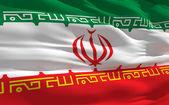 Waving flag of Iran — Stock Photo