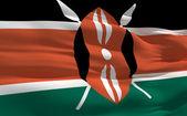 Waving flag of Kenya — Stock Photo