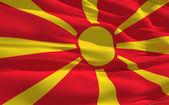 Waving flag of Macedonia — Stock Photo