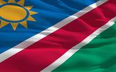 Waving flag of Namibia — Stock Photo