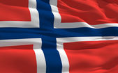 Waving flag of Norway — Stock Photo