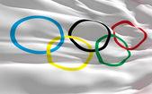 Bandeira do olympique — Fotografia Stock
