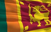 Waving flag of Sri Lanka — Stock Photo