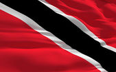 Waving flag of Trinidad and Tobago — Stock Photo