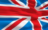 Waving flag of United Kingdom — Stock Photo
