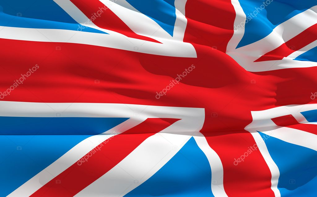 Fluttering flag of United Kingdom on the wind — ストック写真 #2915887