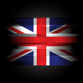 The Abstract Great Britain on black background — Stock Photo