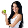 Pretty woman with green apple — Stock Photo #2748321