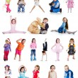 Set of cute little children - Stock Photo