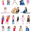 Foto Stock: Set of cute little children