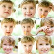 Collage of a photos of a liitle girl — Stock Photo