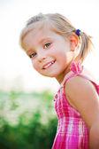 Happy liitle girl — Stockfoto