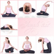 Collage of a woman meditating photos - Stock Photo