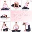Collage of a woman meditating photos - Stok fotoğraf